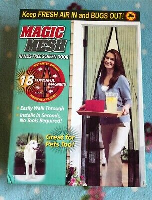 Magic mesh door curtain  fresh air in and bugs out also great for pets! Boxed