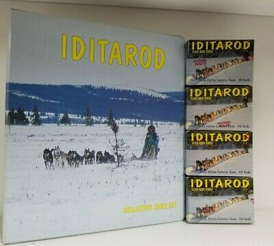 Iditarod Dog Sled Racing Trading Card Binder Album with 4 Limited Edition SETS