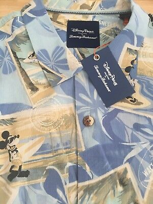 b69e9a94 Disney Parks Tommy Bahama Mickey & Friends Men's Silk Shirt L - New With  Tags!