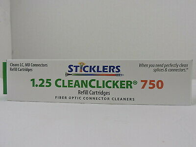 MicroCare Fiber Optic Connector Clicker Cleaner 750, 1.25mm, Sticklers, REFILL