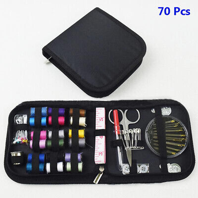 70 Pcs/Set Home Travel Sew Kit Scissors Needle Thread Stitching Hand Sewing Tool