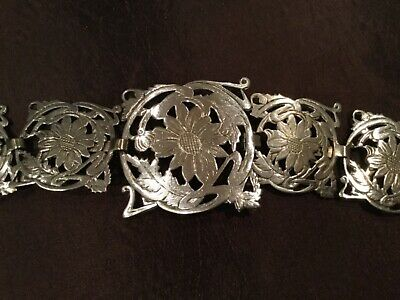 Vintage Art Nouveau Silver Plated Nurses Belt