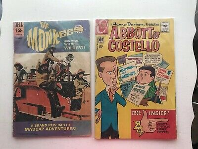 Two Vintage Comics:  The Monkees And Abbott & Costello