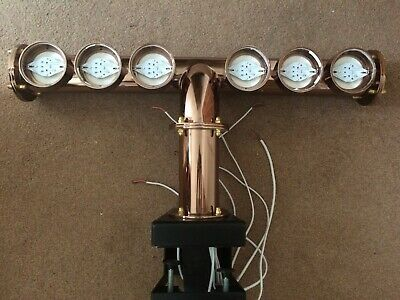 6 Out Copper Coloured T-Bar - 6 Beer Taps