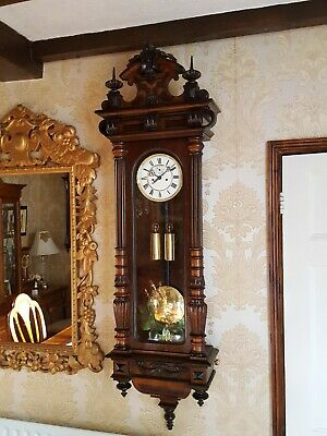 2 Weight Vienna regulator wall clock by Regulator Fabrik Germania