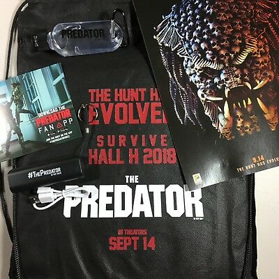 THE PREDATOR Promotional Swag Bag Hall H Comic Con SDCC Exclusive NEW Poster