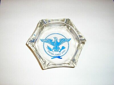 Glass Ashtray from the SS UNITED STATES