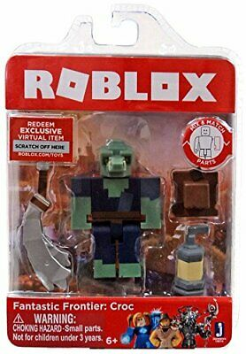 Roblox Fantastic Frontier: Croc Single Figure Core Pack with Exclusive Virtual I