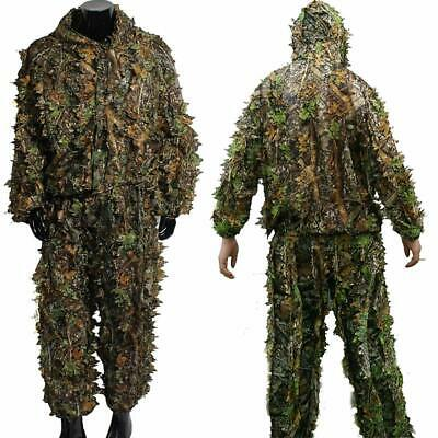 7d9d0d88447 3D Camouflage Ghillie Outfit Suit Tactical Airsoft Paintball Style Camo