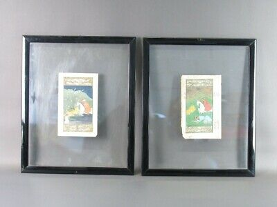 2 Ancient Pages By Book Quran With Painting And Frame Double Glass