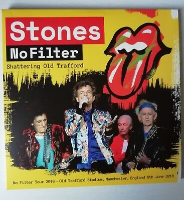 """ROLLING STONES """"SHATTERING OLD TRAFFORD"""" 3LP - yellow vinyls"""