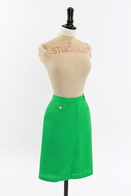Vintage original 1960s 1970s vibrant apple green mini skirt by JH collection 6