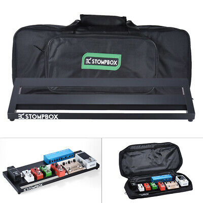 Portable Guitar Effect Pedal Board Pedalboard Aluminum Alloy with Case Box Y8G2