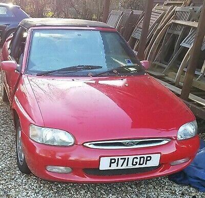 Mk6 Ford Escort Red Convertible 1.8  BREAKING