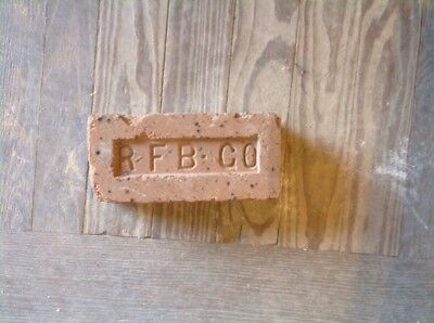 Antique Brick Stamped ****  R F B Co  ********