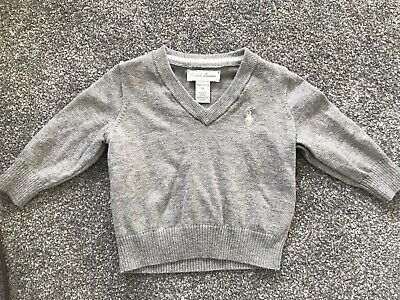 Ralph Lauren Boys V Neck Jumper 6 Months New Without Tags