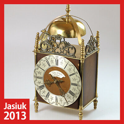 TOMPION HERMLE Germany Wooden Brass Mantel Electronic/Mechanical Clock Chimes