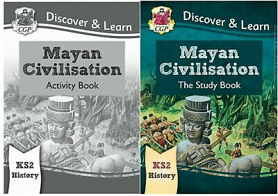 Ks2 History Discover & Learn Mayan Civilisation Study & Activity 2 Book Bundle