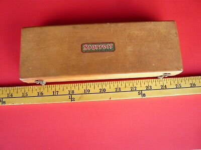 "VINTAGE STARRETT VERNIER CALIPER  #122 Original Case, 9"" Length, Good Condition!"
