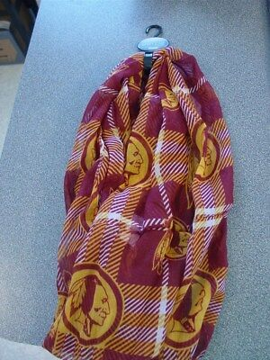 28bbaf94bd9 Washington Redskins Polyester Infiniti Scarf NFL Forever Collectibles NWT  New