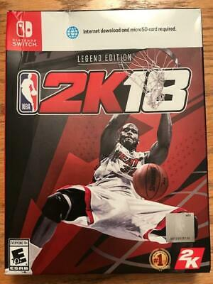 Nintendo Switch Nba 2K18 Legend Edition Brand New Video Game