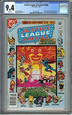 Justice League of America #208 CGC 9.4 JLA JSA Masters of the Universe DC Comics