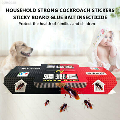 2A9F 1Pc Household Use Cockroach Repeller Killer Bait Trap Sticker Control