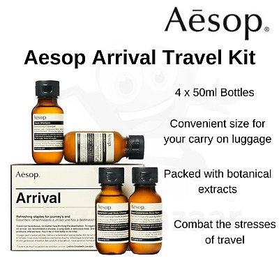 Aesop Jet Set Travel Kit 4 x 50ml Shampoo Conditioner Cleanser & Body Balm