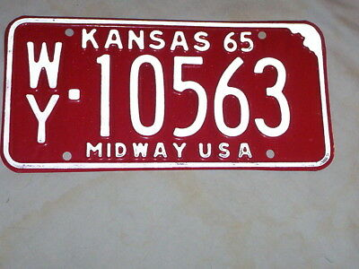 1965 Kansas License Plate-Never Issued Or Used