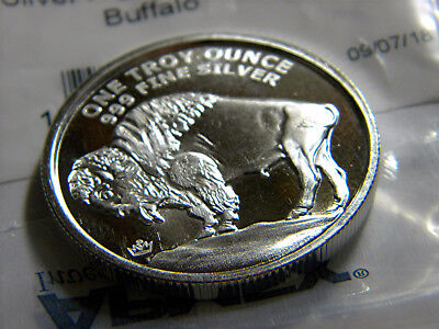 New 1oz Silver High Relief Buffalo Round coin with Proof - Like Refections