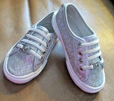 ae45ceb23a MICHAEL KORS~GIRL S KIDS SIZE 8 Shoes Sneakers~Silver Slip On~EUC ...