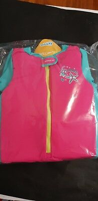 Speedo Sea Squad Infant Junior Girls Float Swimming Swim Suit Pink sz 3-4yrs.BN