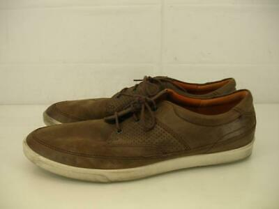 1376a9f416 MENS 10 10.5 44 ECCO Collin Nautical Perforated Sneaker Shoes Brown Leather  Boat