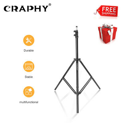 2m/6.6ft Pro Photography Studio Light Stand Relfectors Softbox Umbrellas Holder