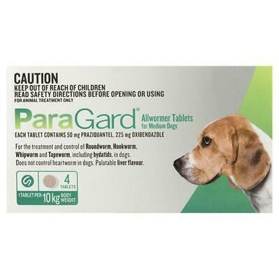 Paraguard Tablets For Medium Dogs 4 Pack