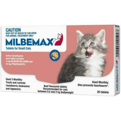 Milbemax All Wormer For Small Cats 20 Pack