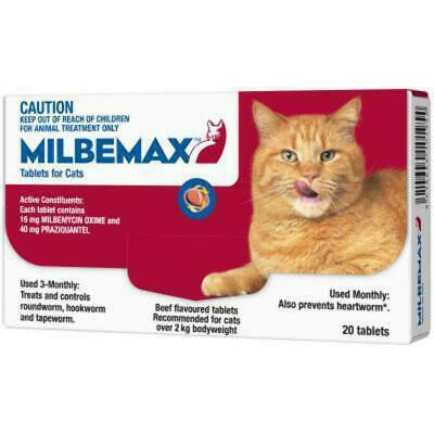 Milbemax All Wormer For Large Cats 20 Pack