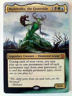 Muldrotha the Gravetide Dominaria MTG Magic Hand Painted Altered Extended Art