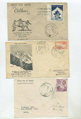Nepal, 7 earlier first day covers