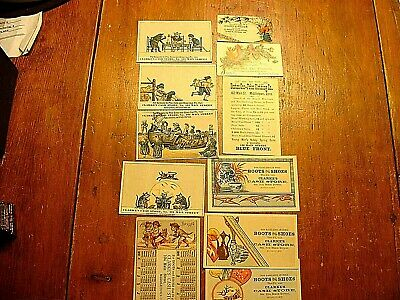 11 Antique 1880's Middletown CT. Trade Cards Clarke's Cash Store