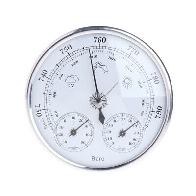 130mm Wall Hanging Weather Station Thermometer Hygrometer Barometer 970~1040hPa