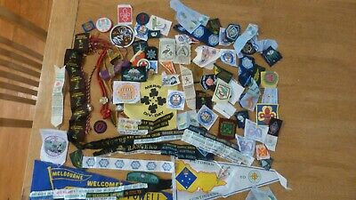 Bulk Lot of Cloth Badges /Patches All Vintage Scouting. Estate Sale