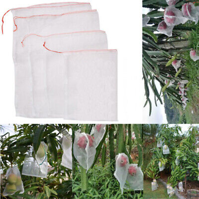 50Pcs/Lot Garden Plant Fruits Protect Drawstring Mesh Net Bags Anti Bird Netting