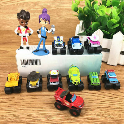 12Pcs Blaze and the Monster Machines PVC Toy Doll Characters and car toys
