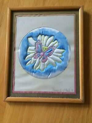 Framed Original Silk Embroidery
