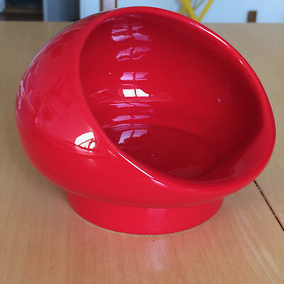 60s VINTAGE Schale Ashtray Bowl GABBIANELLI Italy OPI 102b rot red rosso