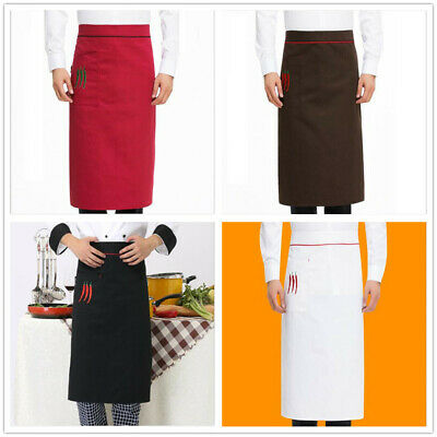 1pc Long Aprons Sleeveless Kitchen Chef Cooking Cafe Commercial Restaurant Apron