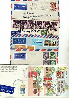 Australia Unchecked Covers/fdc/cards/airmail X27 From Collection Bx2/26