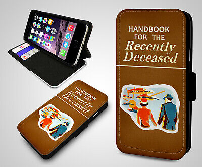 Vintage Handbook For The Recently Deceased Book Leather Flip Phone Case Cover