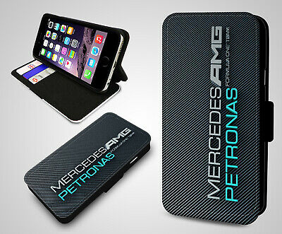 Mercedes Benz AMG Petronas F1 German Engineering Leather Wallet Phone Case Cover